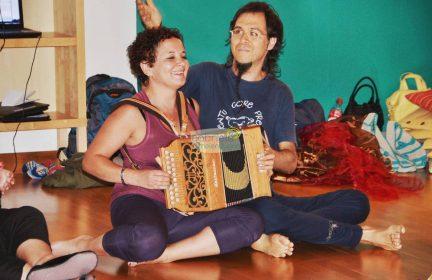 Musicien accordéon diatonique